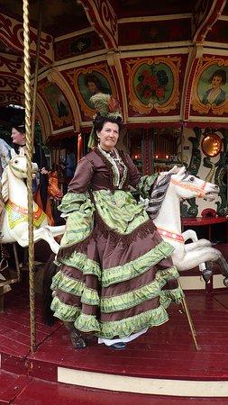 Hingene, Belgia: Costumée durant la fête du château, en juin.