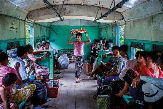 Yangon morgen mat tur med togtur