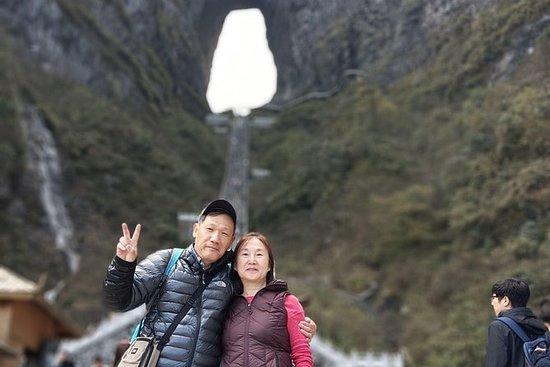 天門山とスカイウォーク&鳳凰プライベートデイツアーで下車