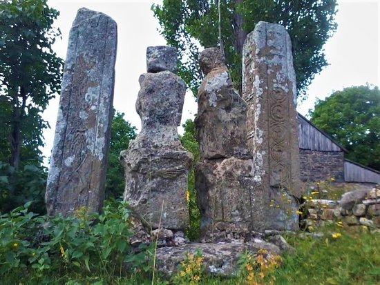 Tetritsqaro, จอร์เจีย: Gomareti 3500 years old stelae. Megalithic culture in Trialeti, Caucasia