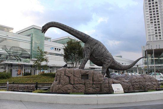 Dinosaur Station at Fukui Station