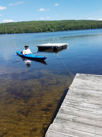 Enfield, NH: Early summer.  The dock and boats are in the lake!  Had a beautiful day today.