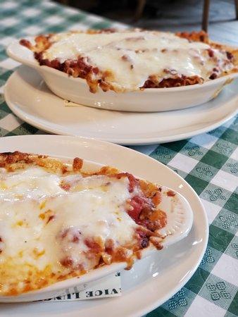 Baked to order lasagna.