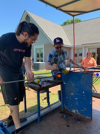Warsaw, VA: The Chrysler Museum mobile glass blowing studio was a big hit.