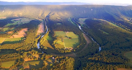 Shenandoah County, VA: Seven Bends from a Hang Gliders perspective