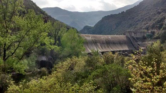 Amer, Spanyol: Vista desde la terraza del restaurante