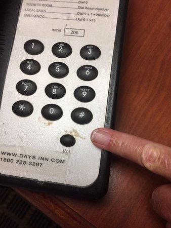 Phone had dried food on it!