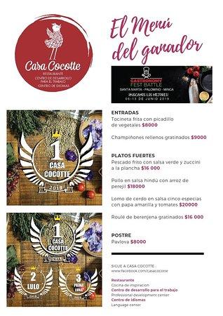 Es una gran felicidad para nosotros en este inicio de fin de semana anunciar que nuestro restaurante obtuvo el primer puesto en el concurso de GASTRONOMY FEST BATTLE realizado entre santa marta, minca y palomino. Ven y celebra con nosotros degustando nuestros delicios y novedosos platos del menú de hoy. TE ESPERAMOS  #santero #casacocotte #palominoguajira #palomino #ron #ronsantero #bartender #curso #barmaid #bar @labatallacol #labatallacol #Gastronomyfestbattle #casacocotte #proyectosocial #cen