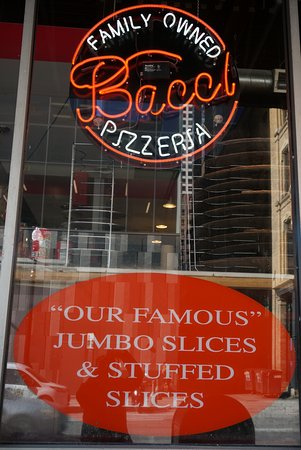 Bacci Pizzeria II:  well-known for it's famous jumbo slices and stuffed slices