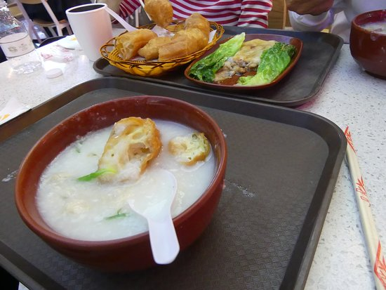 North (The Venetian Macau): Our lunch 1: Congee with Fired Dough