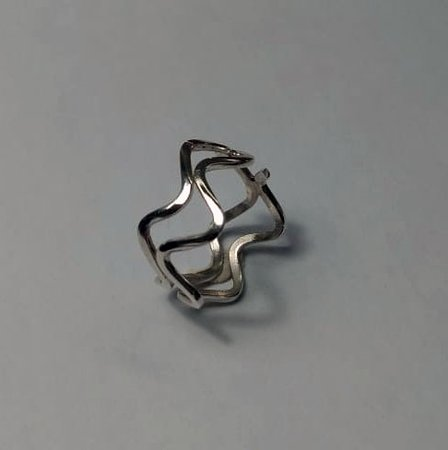 Basics Silver Taster Class - wave ring