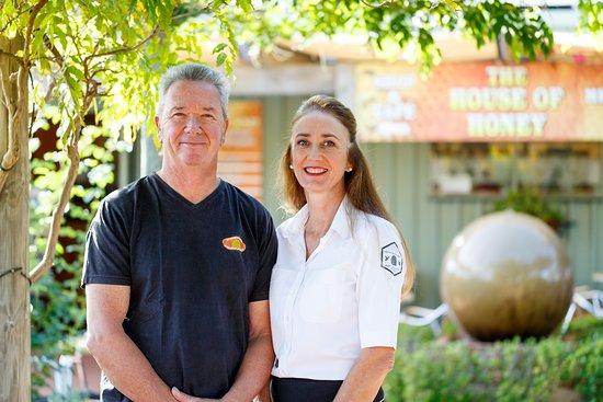 Beekeepers & owners, Rupert & Kim Phillips