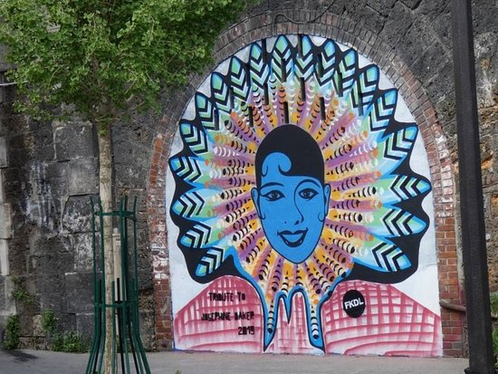 "Fresque ""Tribute to Joséphine Baker"""
