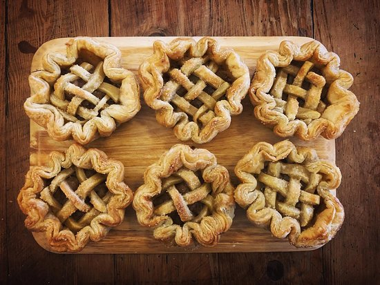 House-made apple pies - great with a dollop of cream and a cuppa.