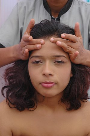 Udajpur, Indija: head massage