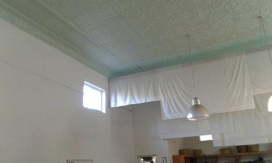 Beautiful pressed steel ceilings still visible