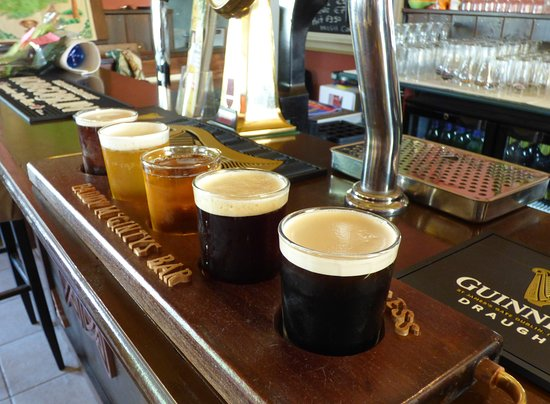 Can't decided which of our 7 Draught Beers / Cider to have then choose 5 from 7 for only €6.00 (1 1/4 pints)