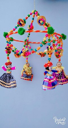 Udajpur, Indija: Hand made Rajasthani Puppets DOOR HANGINGS. More patterns available