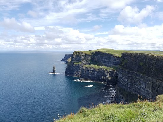 Liscannor, Ireland: One of the first views of the cliffs as you approach from Guerin's Path.