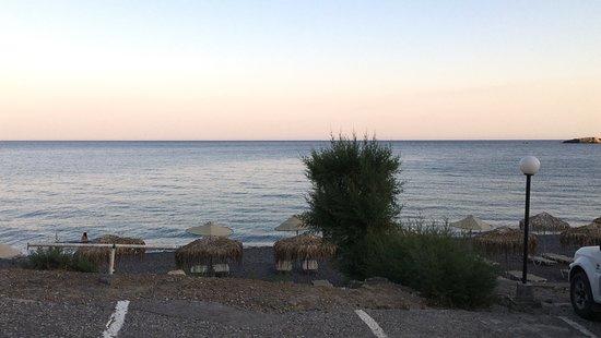 Agia Fotia Taverna: Ausblick von der Taverne