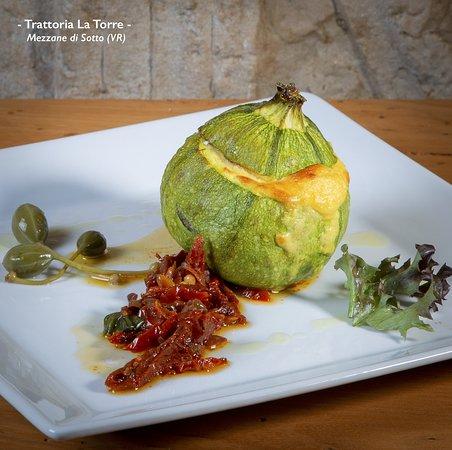 Zucchina ripiena - Stuffed courgette