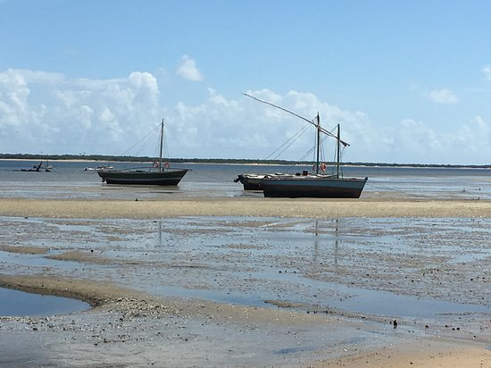 Local boats on Inhaca Island