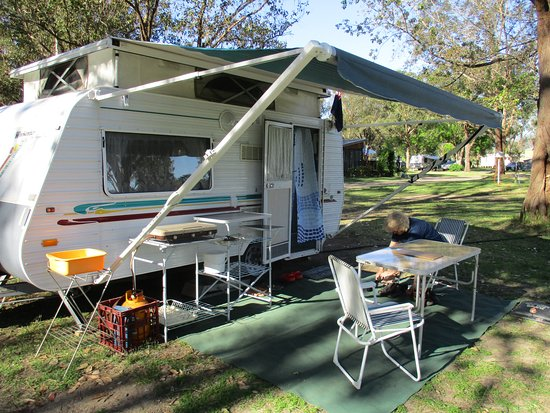 This is the van we have travelled in for 3 months through western Queensland last year and from May and June this year totalling about 9000 k's. Small but cosy.
