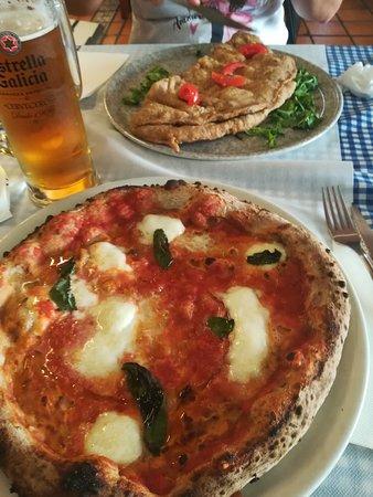 Pizza ai multicereali e pizza fritta