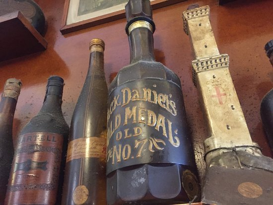 Old bottles on display