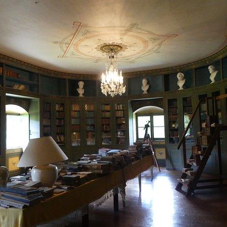Bibliothèque de  20 mètre de long environs avec les ouvrages d'époque ayant appartenu à Monsieur  Emmanuel Jobez