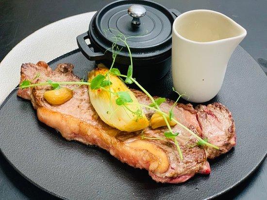 Restaurant le Cohe: Faux filet de Bazas, sauce morilles