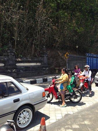 Lake Batur (Danau Batur): 渋滞の風景。