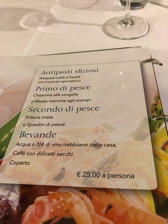 menu € 25