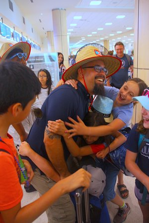 If a picture tells a thousand words then you can see from this one how we feel about Carlos. Here he is seeing us off at the airport at the conclusion of our trip.