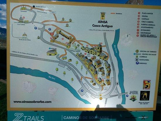 Castillo Fortaleza de Ainsa: Plan de la citadele.