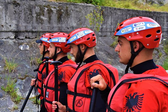 Berat, Albania: Our profesional guides in Championship of rafting in Italy!