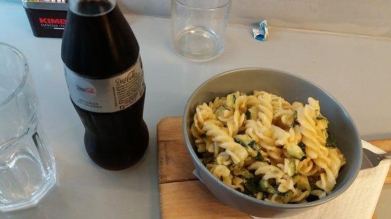 Pasta with zuccinni and gordonzola