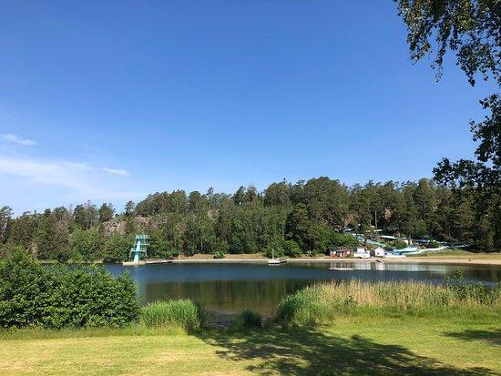 full krok upp campingar på Lake Michigan