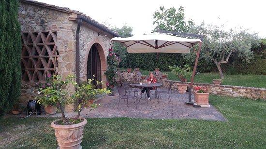 Casale di Villore: Patio area of our villa. Very private and tranquil!
