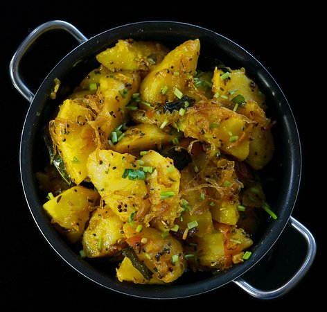 Aloo Panchtara Potato curry in our special Panchfodan Masala