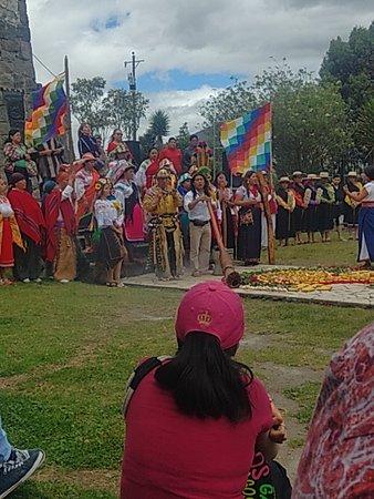 Fiesta del INTI Raymi en el templo del sol
