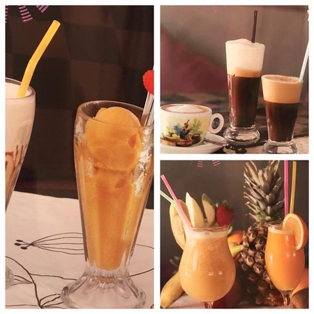Coffees, smoothies and fresh juices