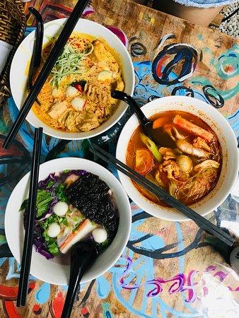 Calanthe Art Cafe: Calanthe Laksa mee RM13,8, Curry, Dumpling Noodle Soup
