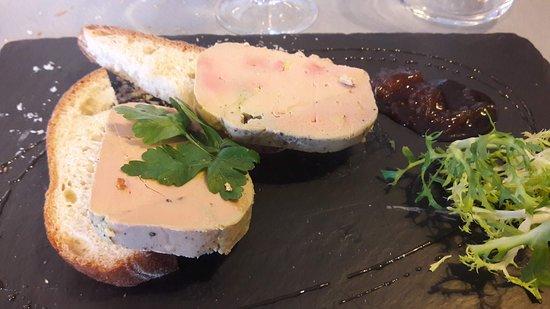 Negrepelisse, Francja: Foie gras maison généreux, soyeux, assaisonnement parfait