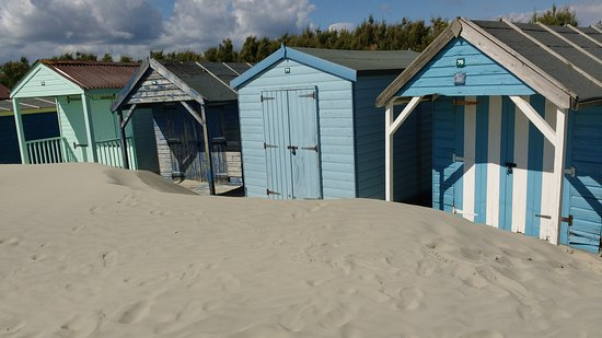 Sand drifts at the beach huts