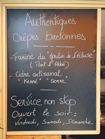 Cafe du Cap: L'ardoise