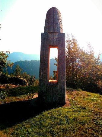 Parco Delle sculture di Rainer Kriester. #Liguria #Vendone