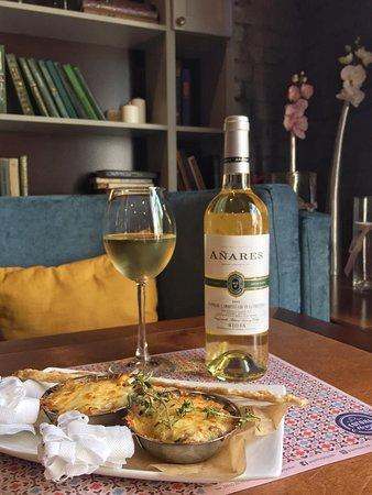 Жюльен и белое вино! Отличный выбор для для жаркого вечера пятницы!