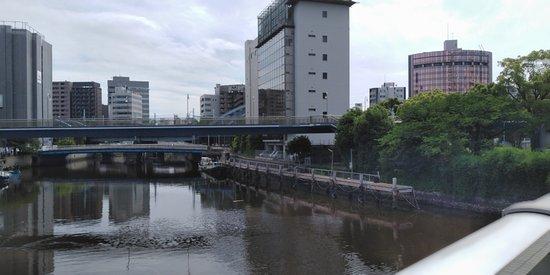 橋からの風景。