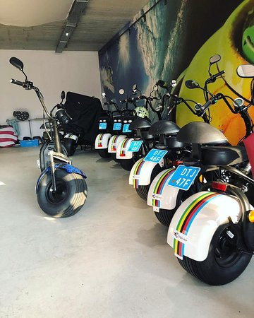 Our fleet of City Cruisers lined up in the showroom